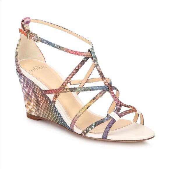 d0bbbe74801b Alexandre Birman Shoes - Alexandre Birman Python Rainbow Demi Wedges